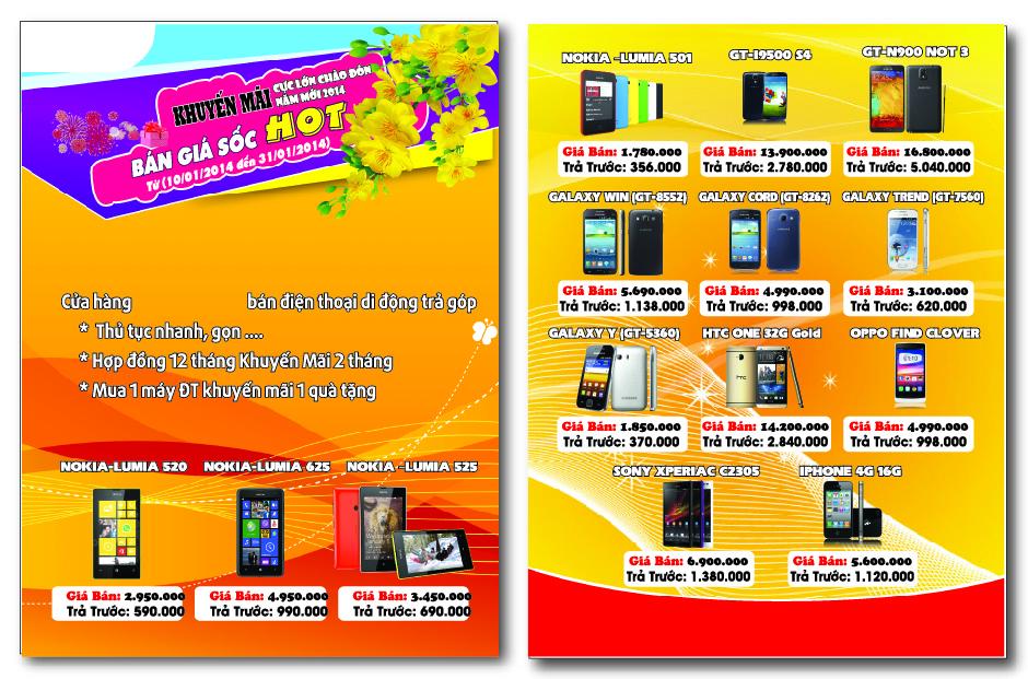 In tờ rơi quảng cáo điện thoại số lượng lớn, in cực nhanh tại Tân Phú