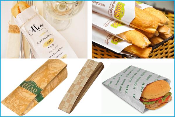 Túi giấy thực phẩm bánh mì kẹp
