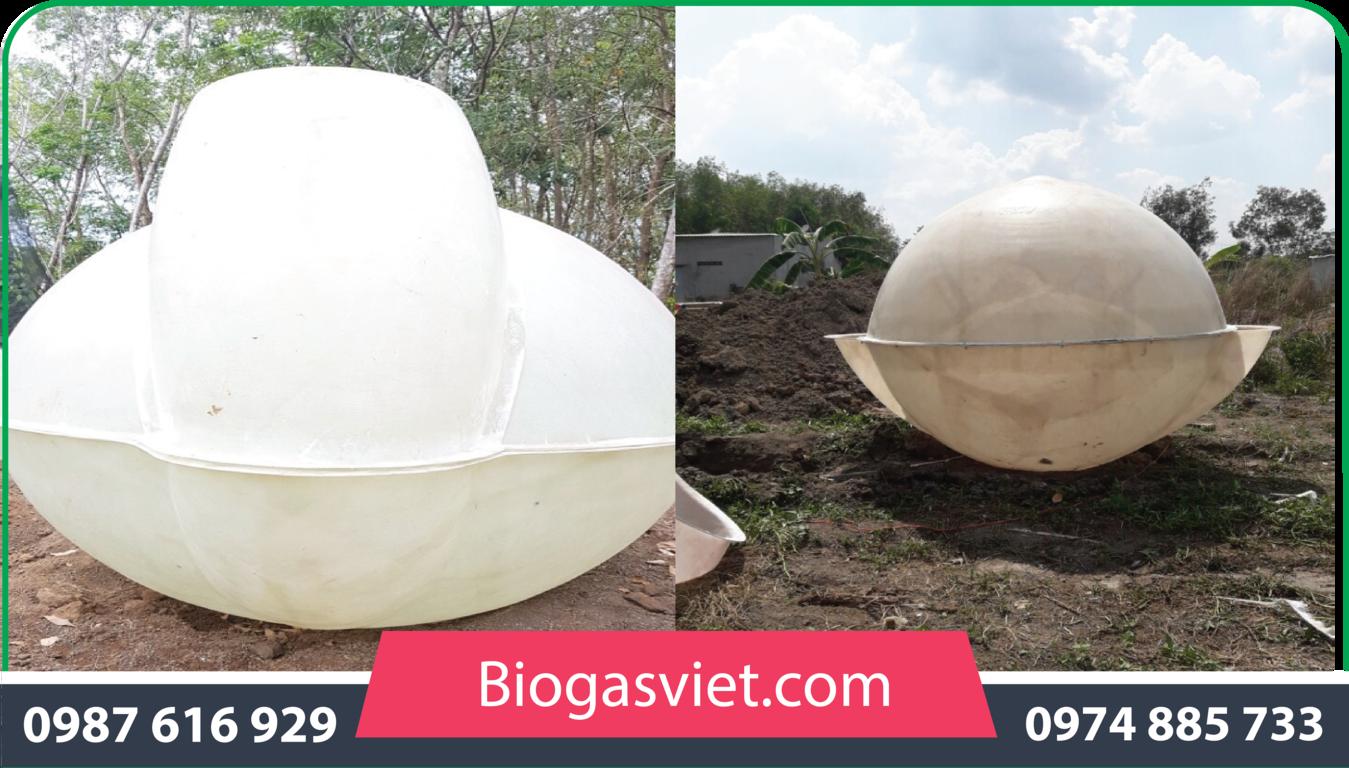 hầm biogas cải tiến bvc giá rẻ