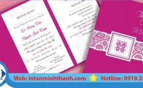 Mẫu in thiệp mời đám cưới đẹp