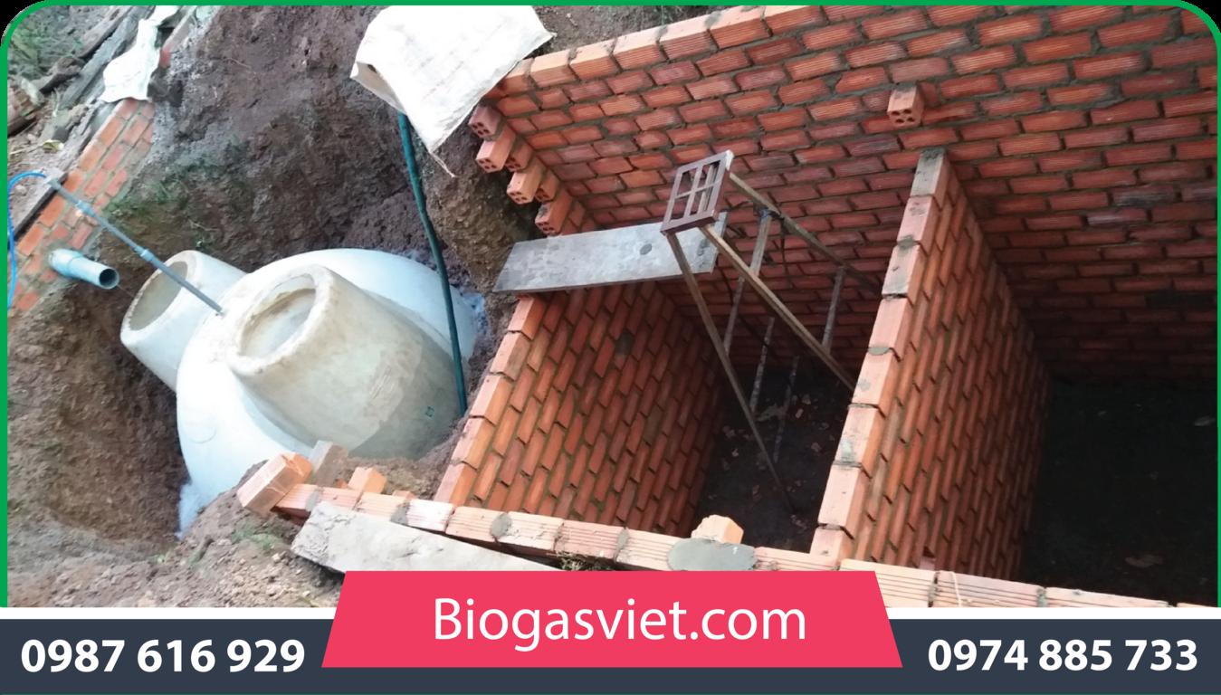 thể tích hầm biogas composite